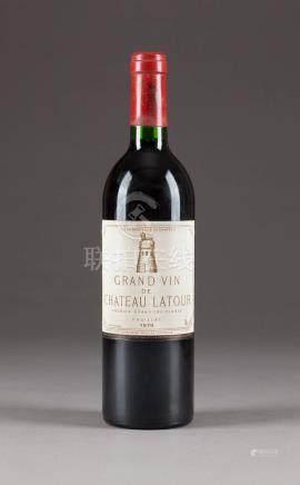 CHÂTEAU LATOUR GRAND VIN 1979 PAUILLAC  6 Flaschen, 0,75l; 2 Flaschen (hf), 4 Flaschen (in).  Bedeutende rheinische Privatsammlung.