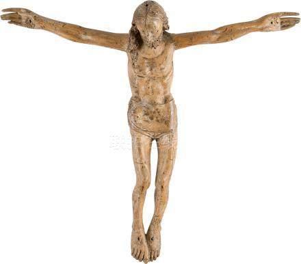 KORPUS CHRISTI  Deutsch, um 1500.  Holz, plastisch geschnitzt, mit R ...