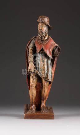 HEILIGER ROCHUS  Frankreich o. Deutschland, um 1700  Holz, plastisch ...