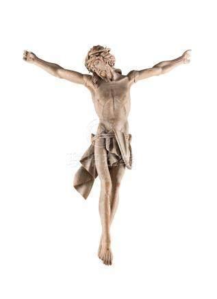GROSSFORMATIGER KORPUS CHRISTI  Süddeutsch, 18. Jh.  Holz, plastisch ...