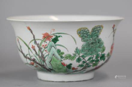 Chinese wucai porcelain bowl, 18th c.