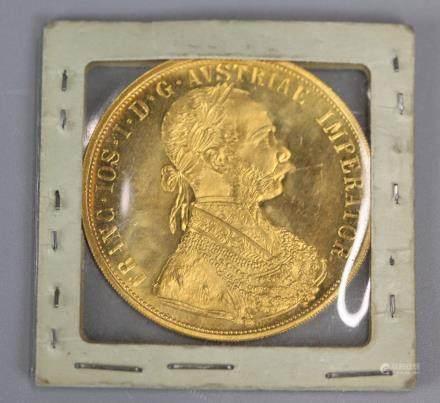 Austrian 1915 gold ducat, 4 ducats
