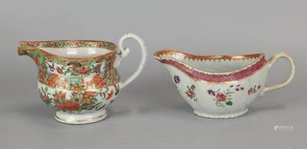 2 Chinese export porcelain table wares, 19th c.