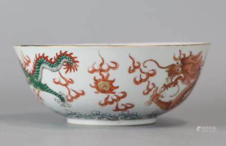 Chinese multicolor porcelain bowl, 19th c.