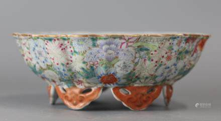 Chinese multicolor porcelain bowl, 19th/20th c.