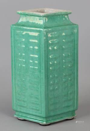 Chinese turquoise glazed porcelain vase, 19th c.
