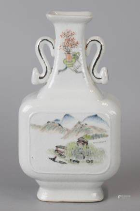 Chinese Qianjiang porcelain vase, 19th/20th c.