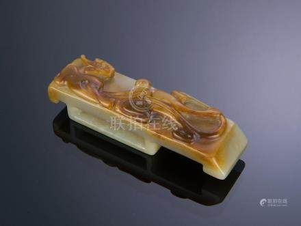 CHINESE JADE BELT BUCKLE, SONG DYNASTY OR EARLIER