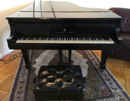 Steinway grand piano, model B, 1967