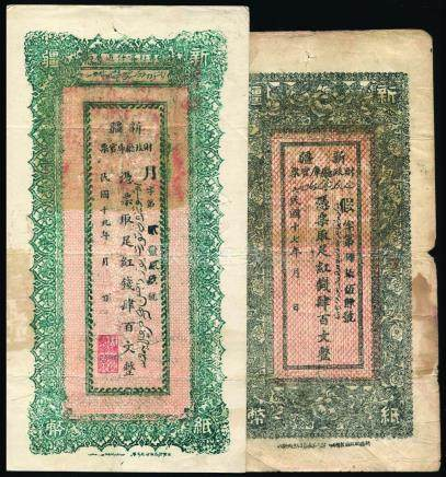 China 1928/30, Sinkiang Provincial Government Finance