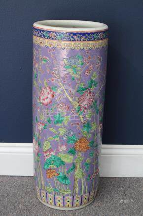 Chinese Porcelain Cloisonne Umbrella Stand