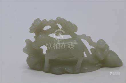 Carved Chinese Jade Horse Figure