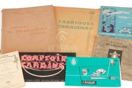 Lot de 7 brochures et catalogues : Couverts et orfèvrerie Christofle (vers 1910