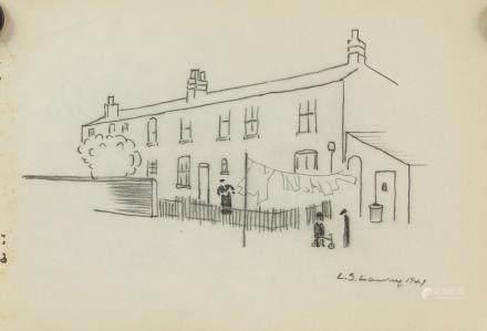 Laurence Stephen Lowry British Naive Art Ink