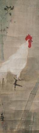 Yang Shanshen 1913-2004 Chinese Watercolor Rooster