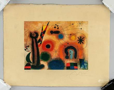 Joan Miro Spanish Surrealist Lithograph Signed