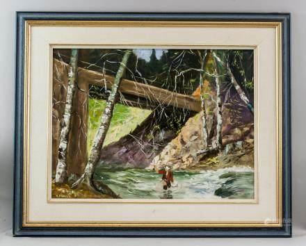 William Kratzer b.1922 German-Canadian Oil/Board