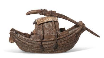 周定芳制船舟壶