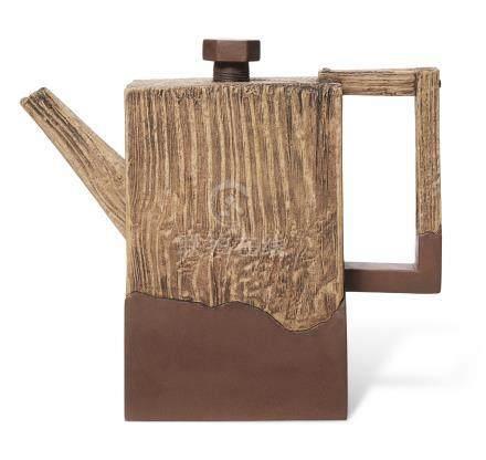 1995年 陆文霞及卢剑星制木纹壶