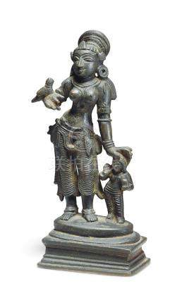 A BRONZE FIGURE OF ANDAL