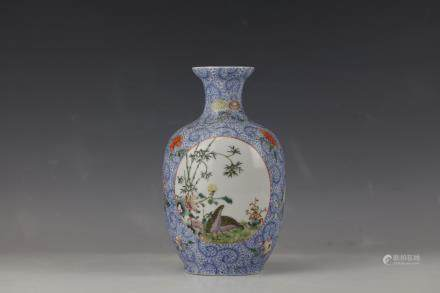 A Chinese Famille Rose Porcelain Vase With Qianlong