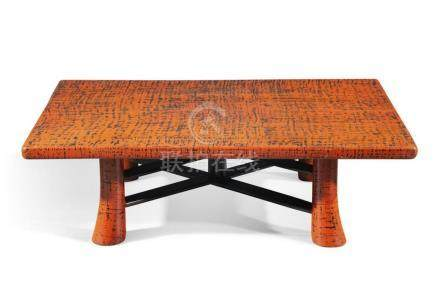 A Japanese lacquered low occasional table 20th century