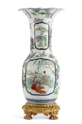A Chinese glazed porcelain vase modern