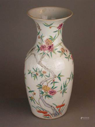 Balustervase - China 20th century, all round decor with flow