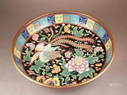 Large cloisonne foot bowl - China 1st half of the 20th centu