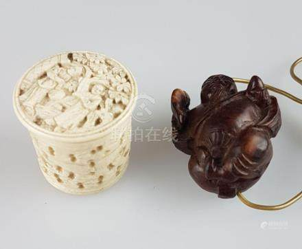 Convolute Sculpture, China/Japan, ivory with fine carving, l