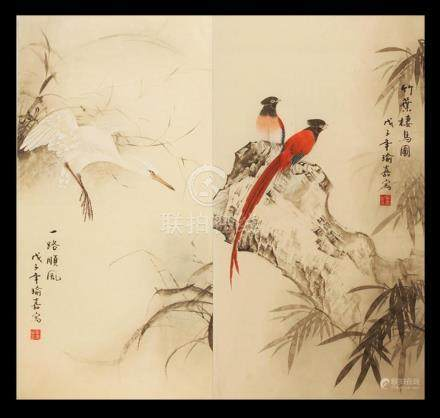 FINE CHINESE PAINTING ATTRIBUTED TO YU JIA