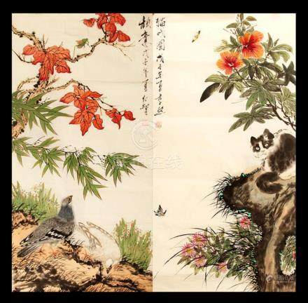 FINE CHINESE PAINTING ATTRIBUTED TO REN ZHI