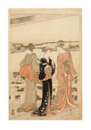 Torii Kiyonaga (1752-1815) and Katsukawa Shunzan (1781-1801) Edo period (1615-1868), circa 1786-1790