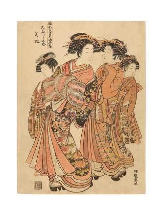 Isoda Koryusai (1735-1790) Edo period (1615-1868), circa 1765-1804