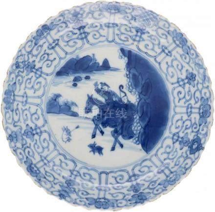 Schotel.Joosje te paard. Gemerkt met Chenghua. China. Kangxi periode. Circa 1700 randschade en