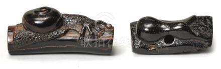 Two umimatsu netsuke  Edo period, early 19th century (2)