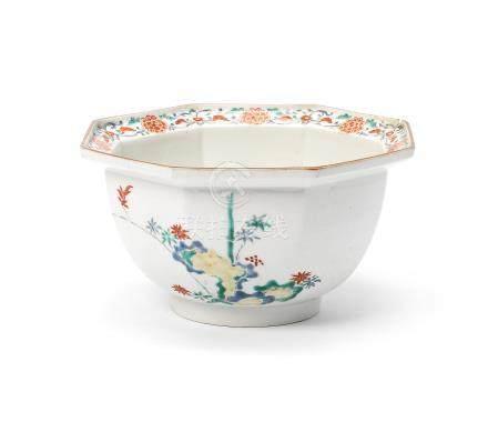 A Kakiemon octagonal bowl Edo Period, 18th century
