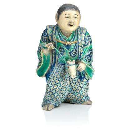 A kyo-yaki ware incense burner Edo era
