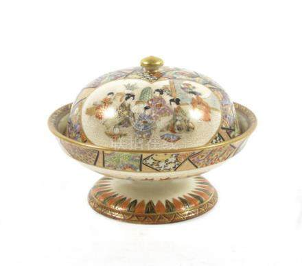 A Satsuma lidded bowl  By Kozan, Meiji era (2)