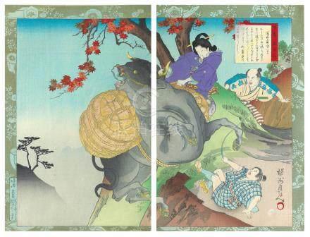 Katsushika Hokusai (1760-1849), Utagawa Sadahide (1807–c.1878–79), and Yoshu Chikanobu (1838-1912) (8)