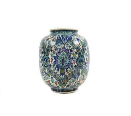 An Isnik-stye oviform vase 19th century