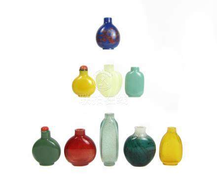 Nine glass snuff bottles Qing Dynasty and later (11)