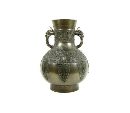A bronze archaic-style vase 19th century