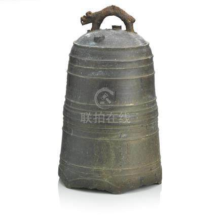 A large bronze bell Dated by inscription corresponding to 1671
