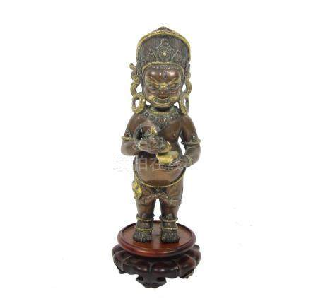 A bronze figure of Mahakala Sino-Tibetan, 20th century
