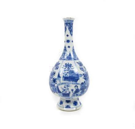 A blue and white vase Kangxi