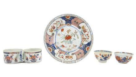 A European-form Imari chocolate pot and other Imari wares 18th century (11)