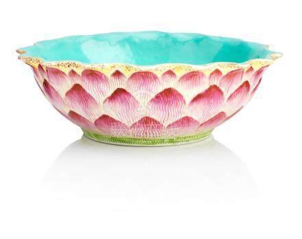A lotus bowl Jiaqing seal mark but 19th century