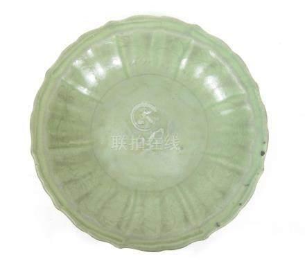 A Lonquan celadon 'double fish' saucer dish Ming
