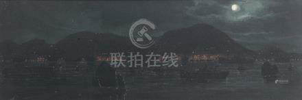 Hong Kong at night First quarter of the 20th century